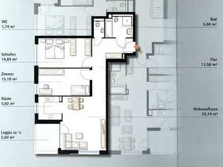 attraktive, zentral gelegene, 3-Zimmer-DG-Wohnung mit Balkon in Böblingen