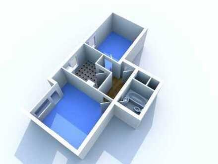 WBS erforderlich! - 2 Zimmer Wohnung mit Balkon für 2 Personen