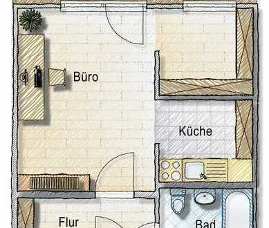 kleine gewerbliche Fläche - Büro Augustusburger Straße 73