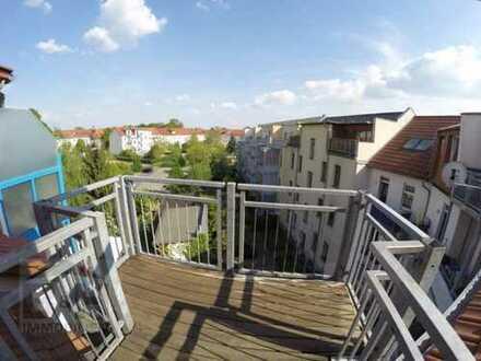 Süße 2 Raum-Dachwohnung mit Balkon in Dessau-Nord - klein und fein 56 qm