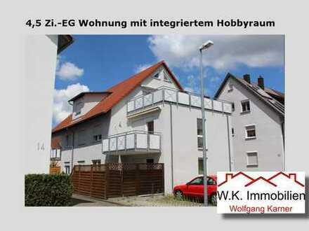 4,5 Zi.-EG Wohnung mit integriertem Hobbyraum in einem 5 Familienhaus