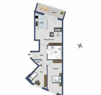 Schöne 3,5 Zimmer-Obergeschoss-Wohnung im Herzen von Sinsheim