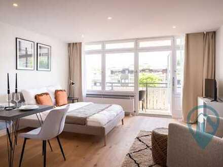Möblierte, ruhig gelegene 1-Zimmer-Wohnung: Erstbezug nach Komplett-Renovierung