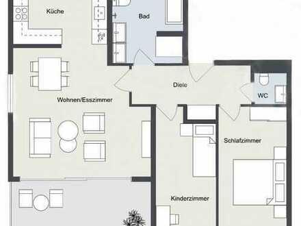 neuwertige 3-Zimmer-Wohnung, Balkon, Stellplatz in Bisingen zu verkaufen.