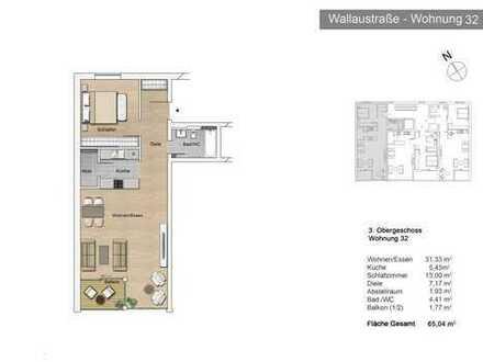 Bayside Mainz - 2-Zimmer-Apartment mit sonnigem Südwestbalkon