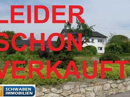 NATURLIEBHABER WILLKOMMEN - Zweifamilienhaus mit sehr großem Grundstück bei Dischingen zu verkaufen!