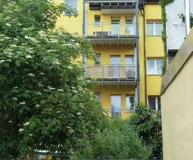 Freundliche 3-Zimmer-Wohnung, Küche, Dusche, sep. WC, Balkon, Gartenmitbenutzung
