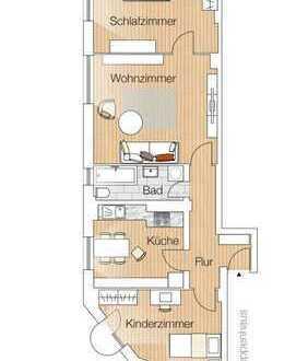 Pempelfort: frisch gestrichene 3 Zimmer Wohnung in begehrtem Trendviertel