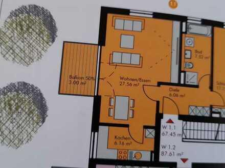 Neuwertige 2-Raum-Wohnung mit Balkon in Hemau
