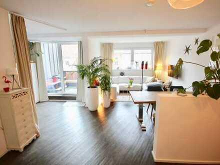 **Ehrenfeld - moderne 115m² DG Wohnung (Bj´98) mit Balkon, 2 Bäder, EBK & 41m² gr. Spitzboden**
