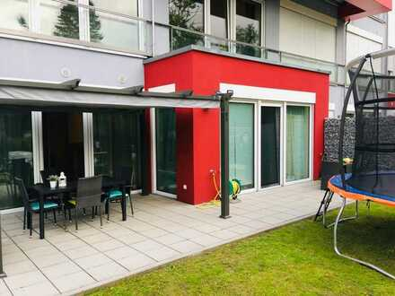 Helle, geräumige und neuwertige 2-Zimmer-Erdgeschosswohnung Terrasse und Garten in Donauwörth