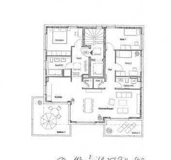 Erstbezug: hochwertige 4-Zimmer-Penthouse-Wohnung mit EBK und 2 TG in Backnang