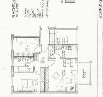3 ZKB Wohn. 75m², Augsburg, Wartenburgerstr., Balkon, Tiefgarage,