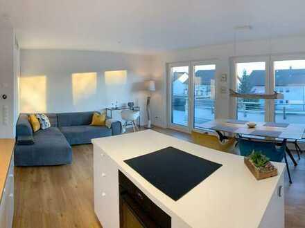 All-In-Miete: 60qm Penthouse (Neubau) mit Dachterrasse, Klimaanlage und Aufzug