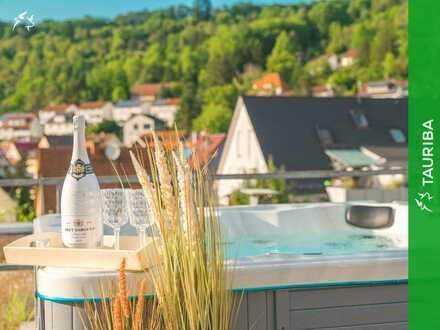 +++Großzügige Penthousewohnung mit großem Wintergarten, Dachterrasse & Whirlpool+++