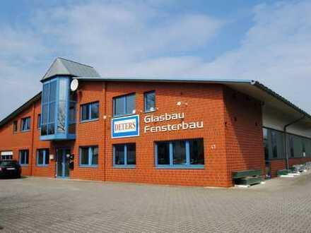 Gewerbehalle mit Lagerhalle, Bürotrakt, Photovoltaikanlage u. OG-Wohnung in Vechta zu verkaufen