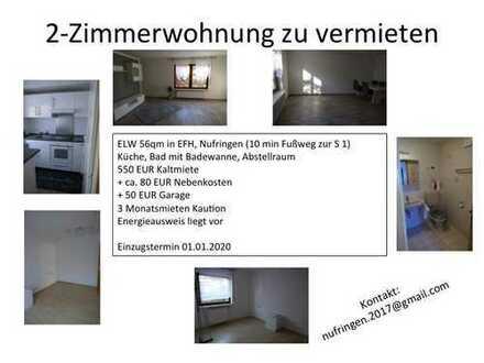 2-Zimmer-Einliegerwohnung mit Einbauküche und Garage in Nufringen
