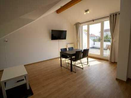 ERSTBEZUG: möblierte 2 Zimmer Wohnung mit Dachterrasse ab 1.10 zu vermieten