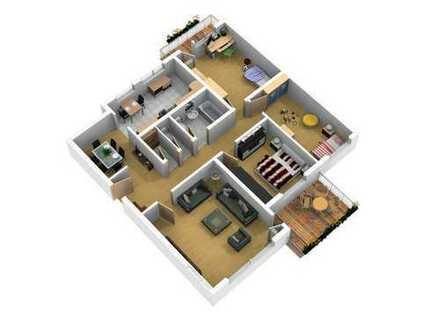 Gepflegte 4-Zimmer-Wohnung mit Balkon und Einbauküche in Bonn