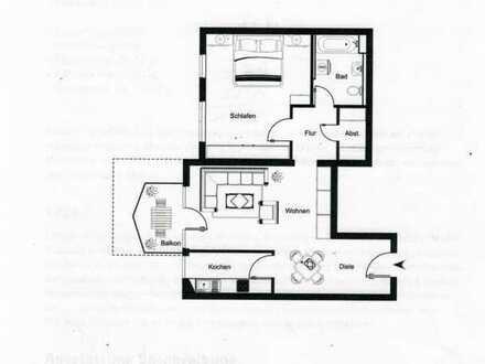 Neuwertige 2 ZKB-Wohnung mit Balkon und Einbauküche in Mannheim