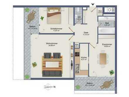 Modernisierte-gepflegt-bezugsfreie 3 Zi.Wg. ca.83 m² - über 3 % Rendite-sehr hohe Steuerersparnis!!!