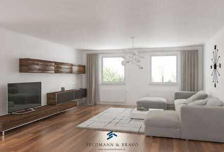 Schicke sanierte Wohnung mit großer Terrasse & Kamin!