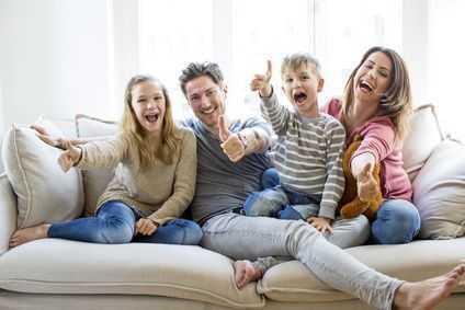 Glücklich in Ihr Eigenheim