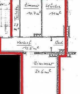 Erstbezug nach Sanierung: attraktive 3-Zimmer-Wohnung mit Balkon in Hof