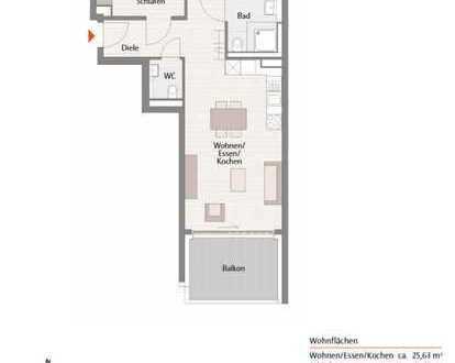 Erstbezug mit EBK und Balkon: 3-Zimmer-Wohnung in Leonberg direkt an S6