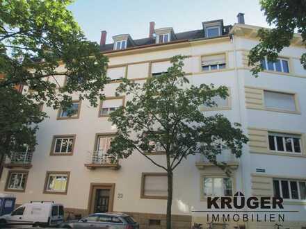 Karlsruhe-Südwest / gepflegte 3-Zi-Altbau Wohnung mit Loggia in zentraler Lage / ab 01.07.2020