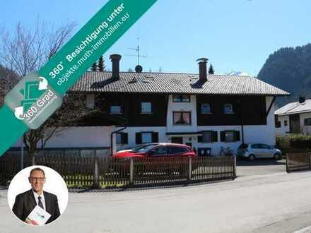 Solide KAPITALANLAGE in Oberammergau - 6-Parteienwohnhaus auf 947 m² Eckgrundstück
