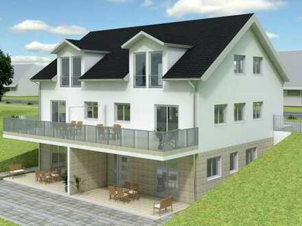 Moderne Doppelhaushälfte KFW 40 in ökologischem Holzbau