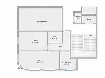 Helle, gepflegte 2-Zimmer-Wohnung mit kleinem Balkon in Stuttgart