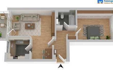 Komplett möbliert mieten - Modernisierte 2-Zimmer-Wohnung mit Balkon Nähe Westpark