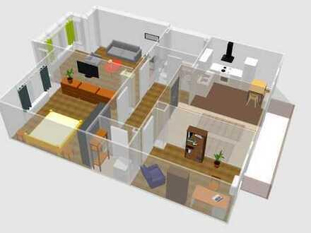 Gepflegte 3-Zimmer-Wohnung mit Balkon und EBK in Mannheim
