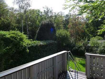 VOLLMÖBLIERTE idyllische Bungalow-Hälfte mit Garten in ruhiger Waldrandlage WOB-Detmerode