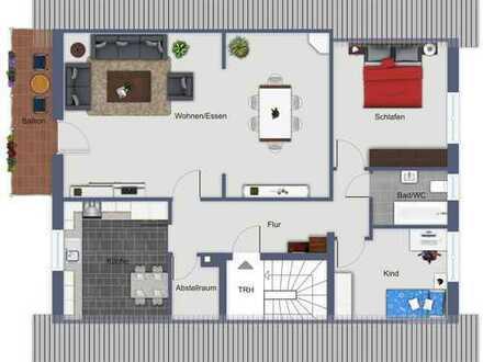 Gemütliche 3,5 Zimmer-Wohnung im 1.OG