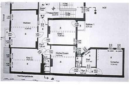 +++Dachgeschosswohnung mit 2 Balkonen+++