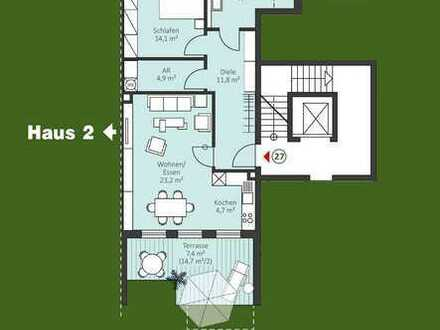 Neubau / 2 Zi. Penthouse-Wohnung