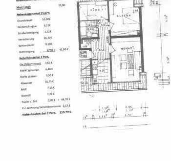 Vollständig renovierte 3-Raum-DG-Wohnung in Bottrop