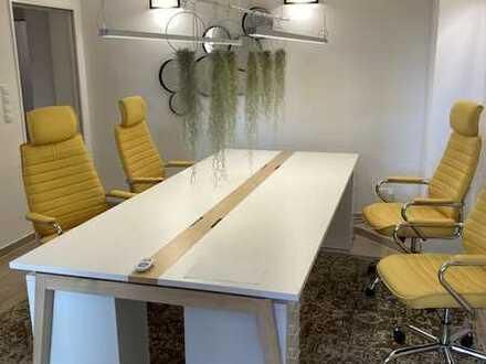 voll möbliertes Start-Up-Büro, 4 Arbeitsplätze, Küche, Konferenzraum, Dusche, LAN, Drucker