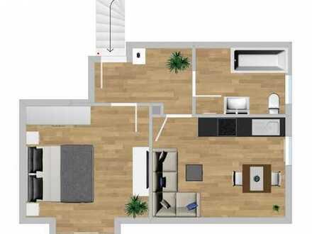 Neu renovierte 1,5 ZWoKB -Dachgeschosswohnung in Augsburg-Neukriegshaber