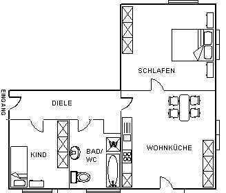 Helle 2-Zimmer-Wohnung in ruhiger Lage