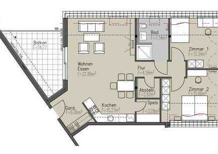 Erstbezug einer exklusiven 3,5-Zimmer-Wohnung mit Balkon und EBK in Metzingen, Nähe Lindenplatz