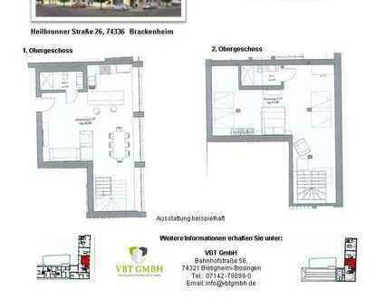 Stylische 2-Zimmer Maisonette Wohnung (Nr. 2.19 B, 2./3. OG)