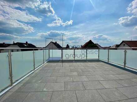 Kernsanierte Maisonette-Wohnung mit Dachterrasse im 2 FH - zentral in Lampertheim