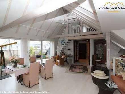 Über den Dächern. Helle, gut aufgeteilte 4,5 Raum Wohnung mit zwei Terrassen und Doppelgarage
