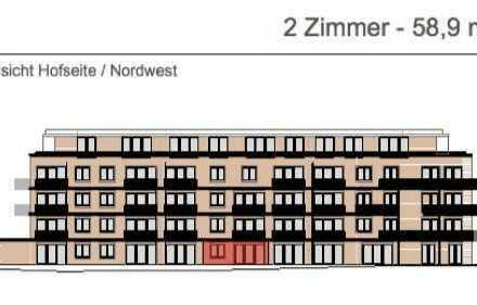 Exklusive, neuwertige 2-Zimmer-Erdgeschosswohnung mit Balkon und EBK in Neustadt, Hamburg