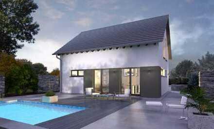 Nachhaltiges Haus inkl. Wiese, Bachlauf und Teich (insg. 2000 m²)