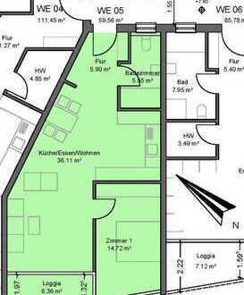 Barrierefreie 2 ZKB-Eigentumswohnung mit Balkon in top Citylage in 68723 Schwetzingen!